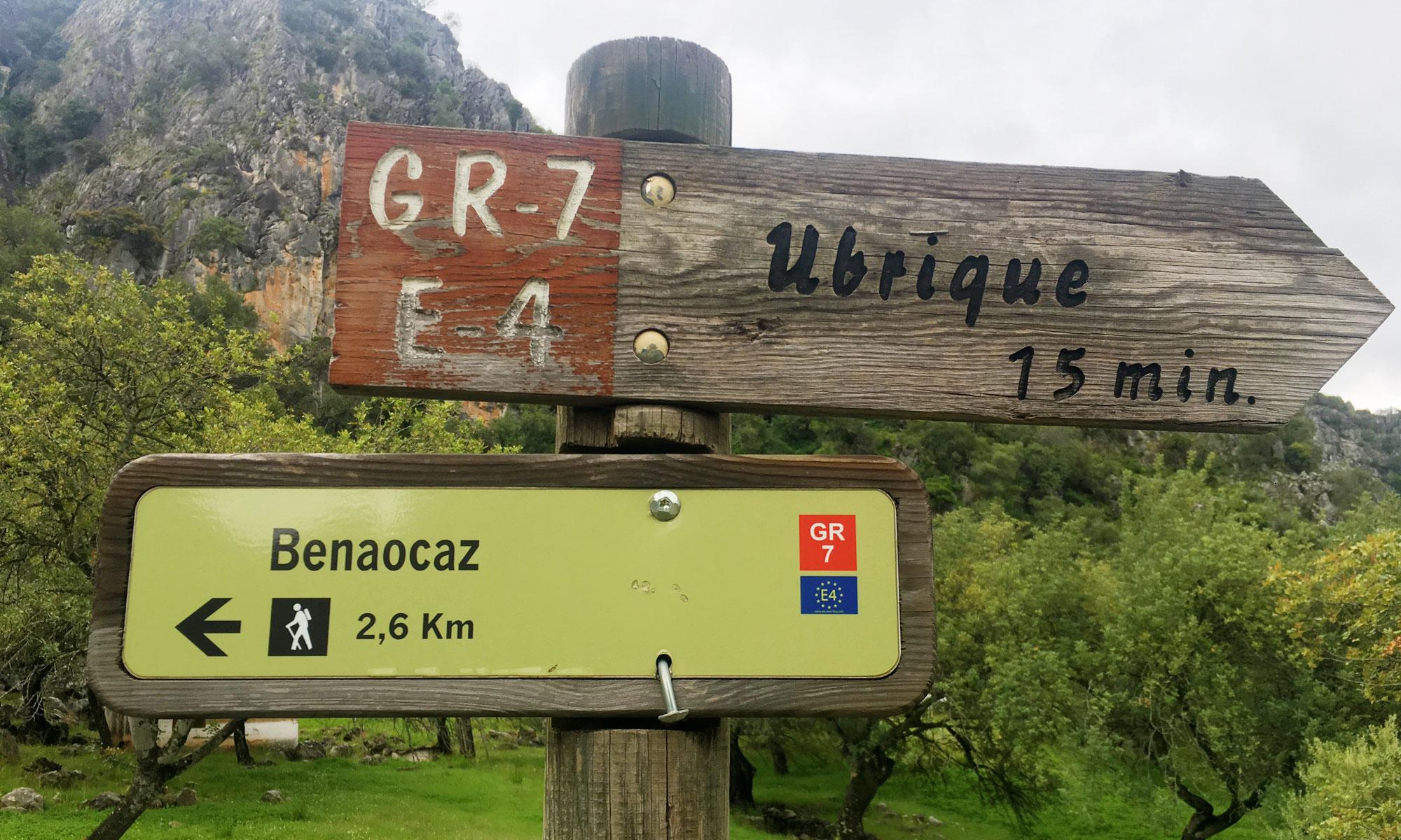 Wandelroute GR-7 Sierra de Grazalema