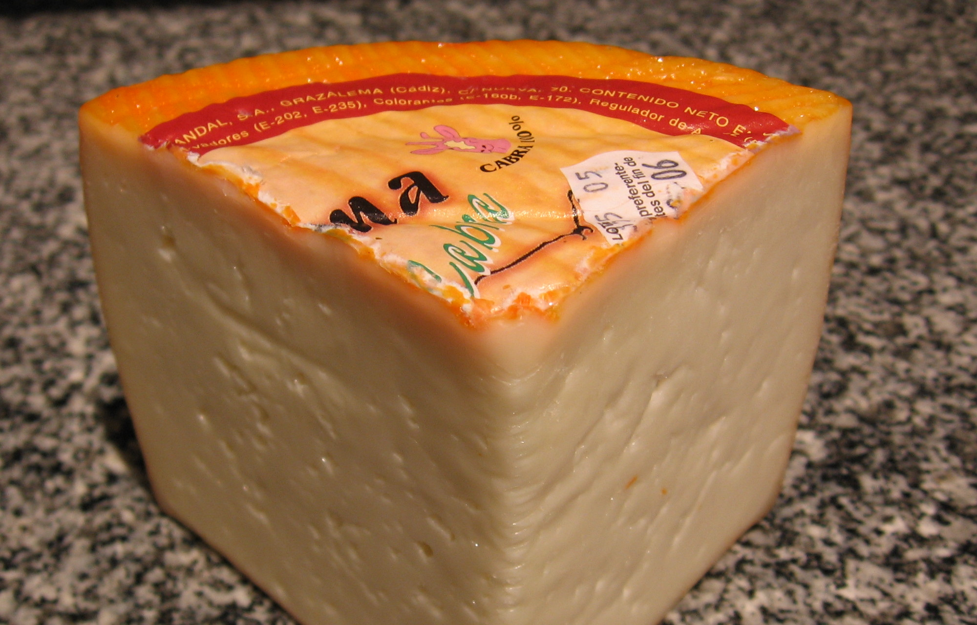 Kaas uit Grazalema, Andalusië