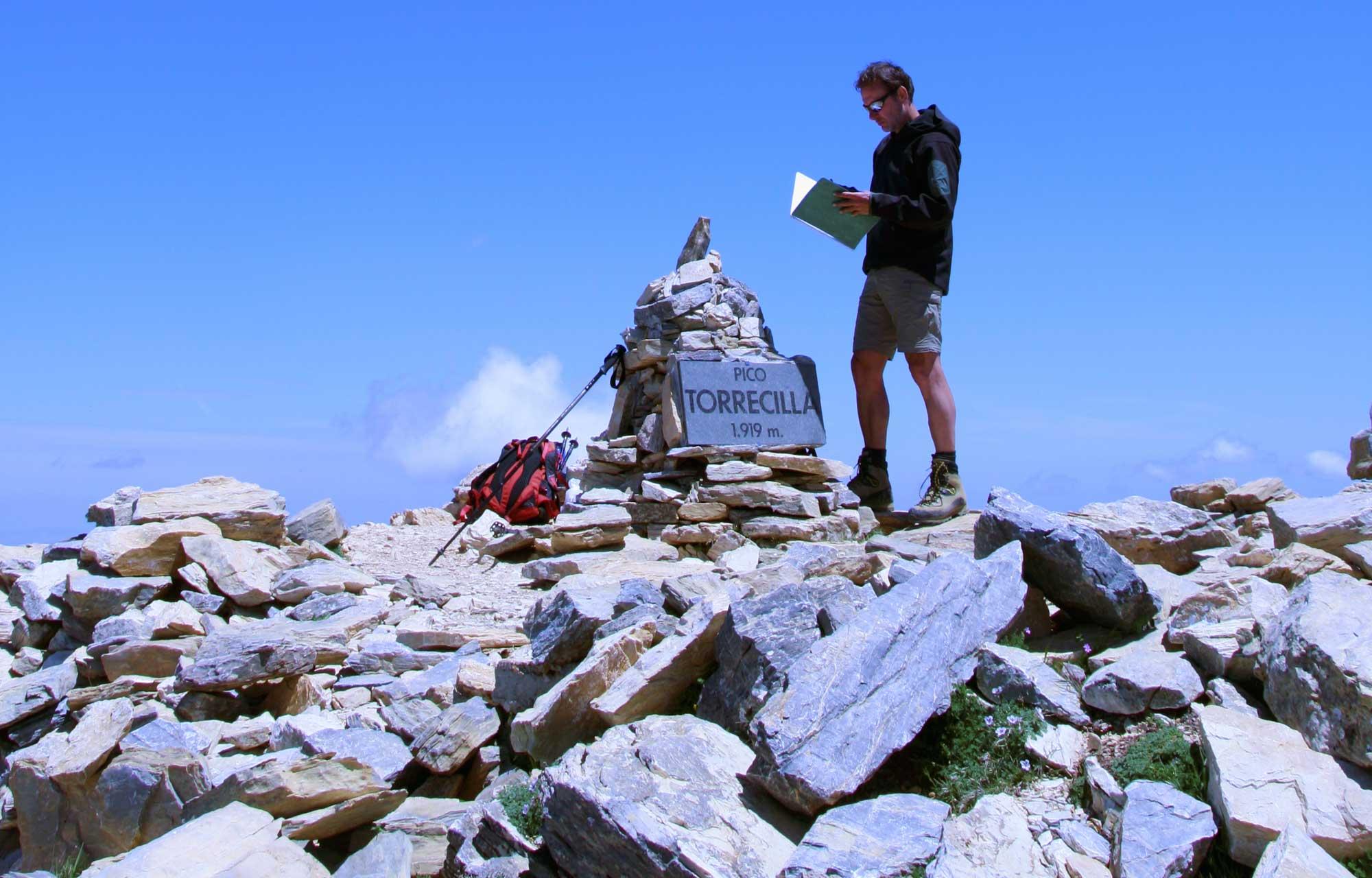 Op de top van Pico Torrecilla, 1.919 m.