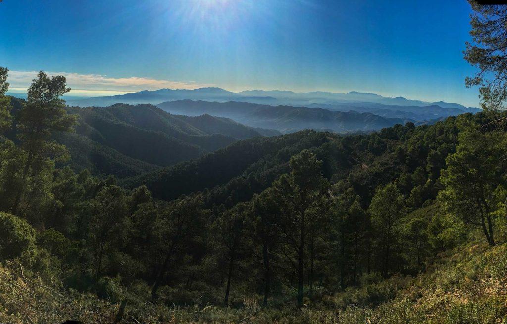 Wandelgebied Montes de Malaga Andalusië