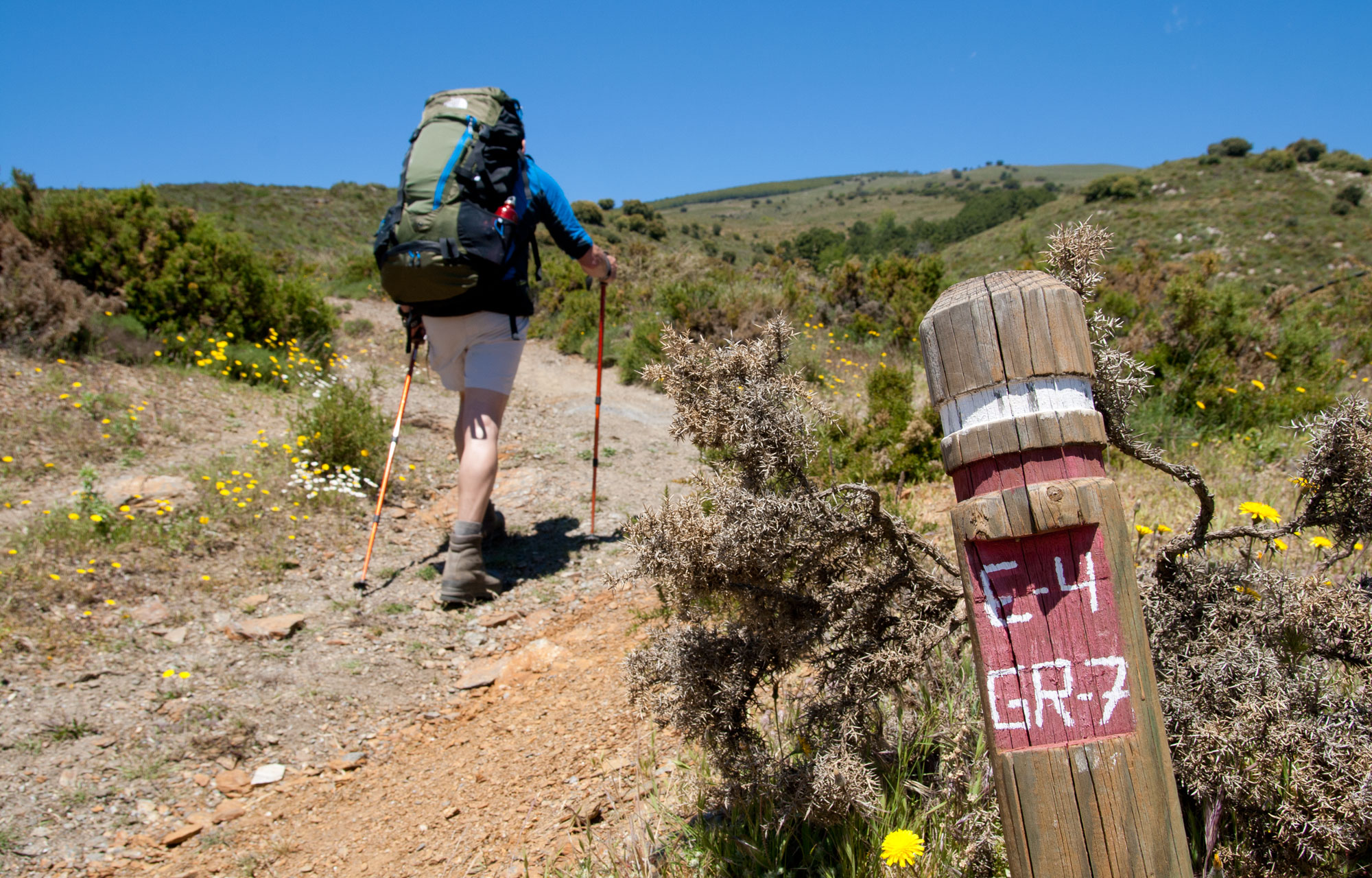 GR wandelroutes in Andalusië