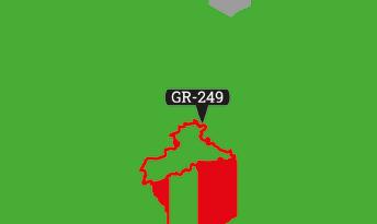 Wandelroute locator GR-249 Andausie
